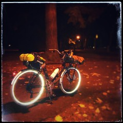 Night bicycling with the Crested Butte. It's nice out right now... #nightbiking #raleighbicycles #raleighcrestedbutte