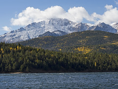 1 Oct 17 Pikes Peak across Crystal Reservoir