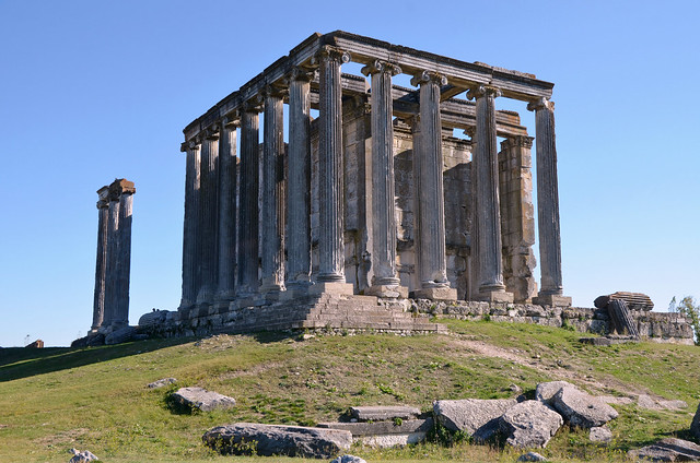 Temple of Zeus, its construction started in 92 AD and continued during the reign of Hadrian, Aizanoi, Turkey