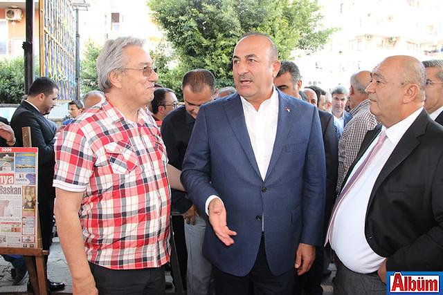 Servet Sipahioğlu, Dışişleri Bakanı Mevlüt Çavuşoğlu, Oğuz Korum