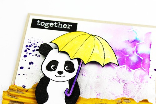 Meihsia Liu Simply Paper Crafts Mixed Media Card Panda Simon Says Stamp Monday Challenge 5