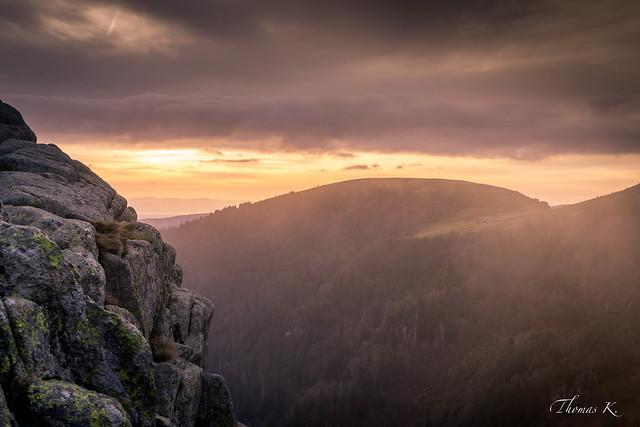 Brumes sur les sommets vosgiens