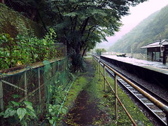 Former Hozukyō Station 山陰本線旧線 保津峡駅跡