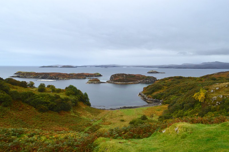 This is a picture of Handa Island taken from the drum beg viewpoint