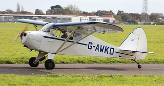 Piper PA-17 Vagabond G-AWKD Lee on Solent Airfield 2017 | by SupaSmokey