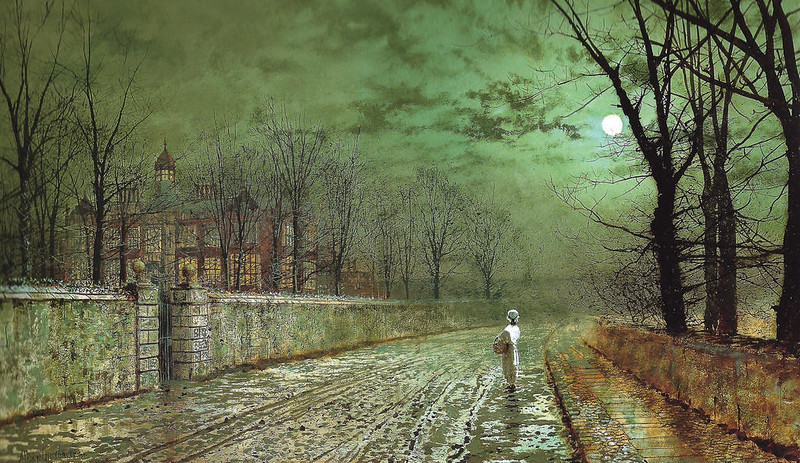 A Moonlit Evening by John Atkinson Grimshaw, 1880