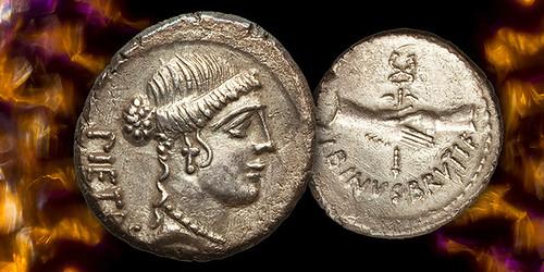 Coin of Decimus Postumus Albinus Brutus