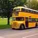Yellow Leyland Titan Bus