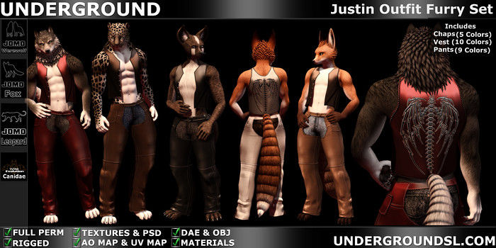 Justin_Outfit_Furry_Set