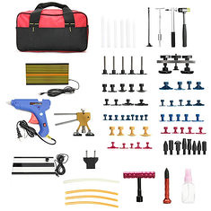 68pcs PDR Car Body Dent Repair Tool Set Hammer Puller Glue Gun Bridge Removal (1114416) #Banggood