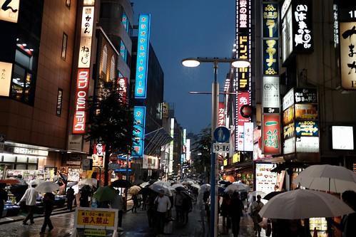 Yokohama rainy blue