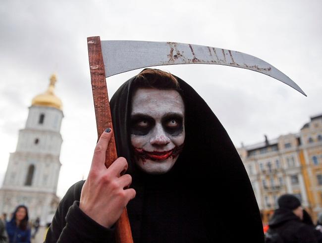 UKRAINE-HALLOWEEN/