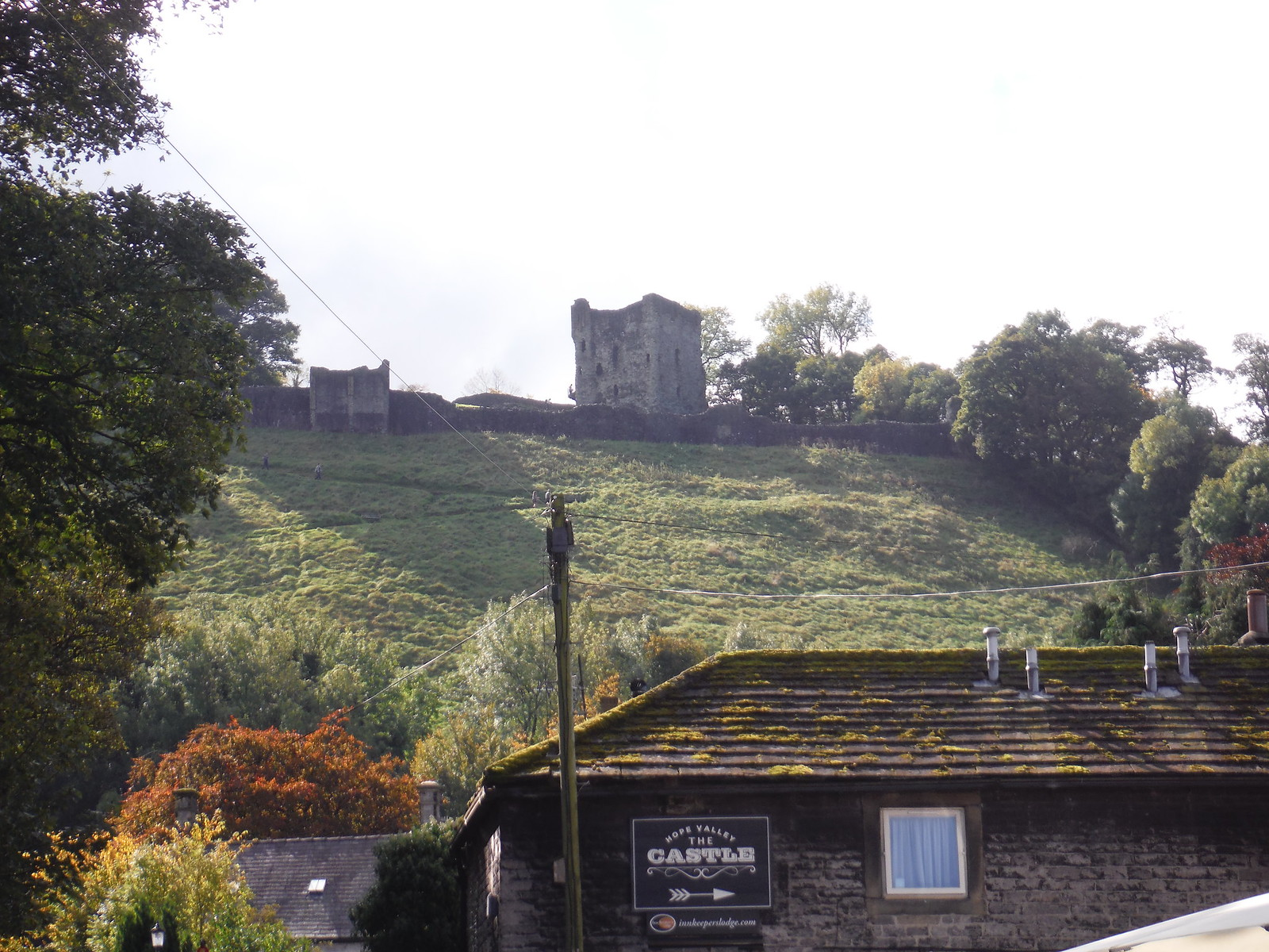 Peveril Castle, Castleton SWC Walk 302 - Bamford to Edale (via Win Hill and Great Ridge) [Castleton Alternatives]