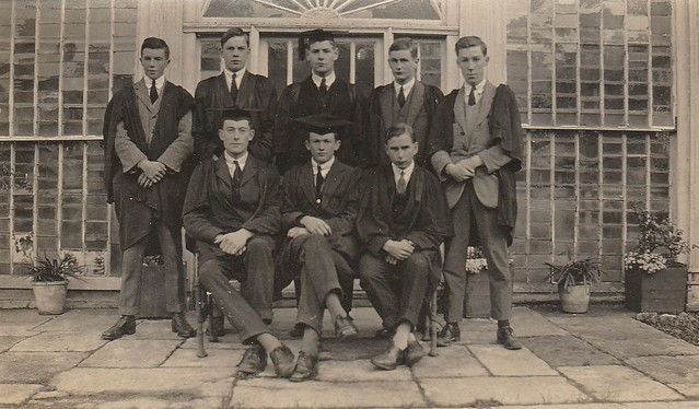 1924 Prefects. Back - Clifford, Lisney, Synge, Gwynn, Jones, Front Martin, Jeffares, Craig