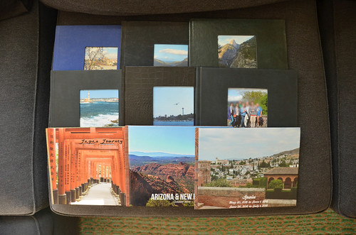 Half my collection of Hardcover Photo Books