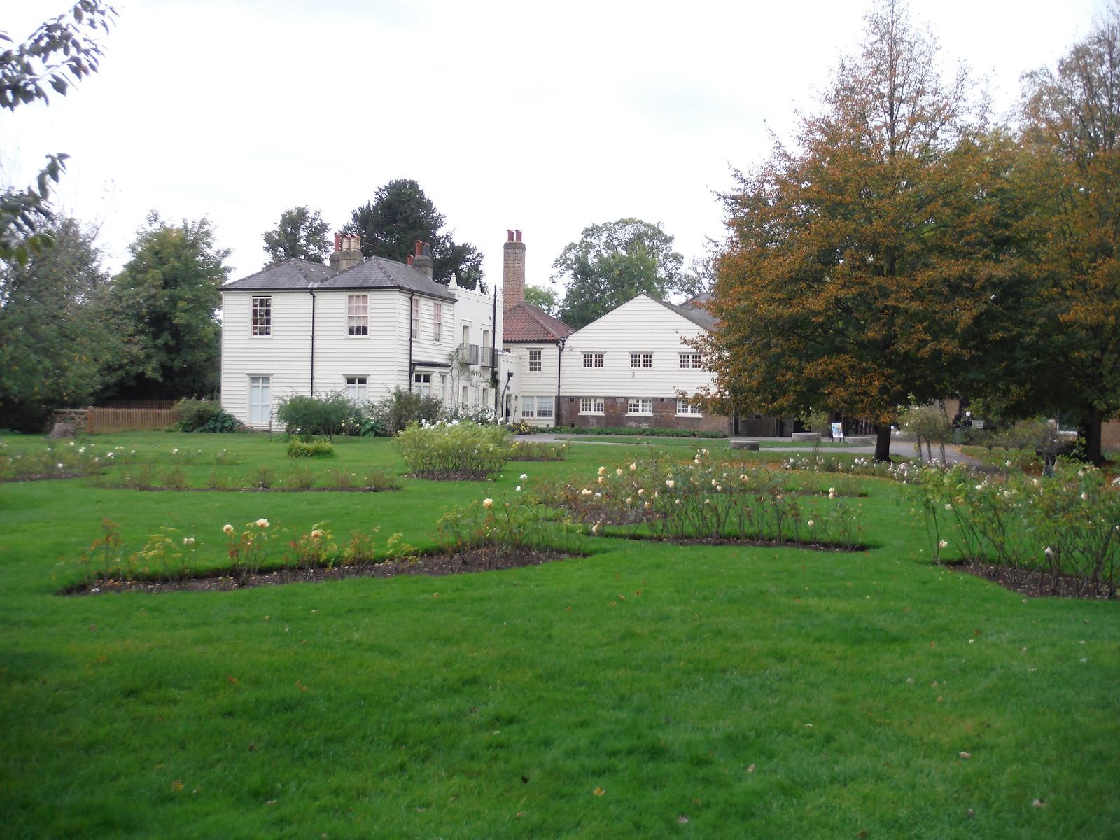 Rose Garden and Morden Cottage, Morden Hall Park SWC Walk Short 13 - Morden Hall Park and Merton Abbey Mills