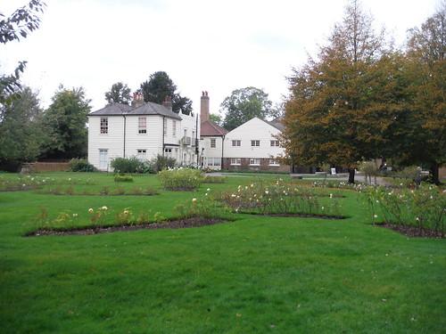 Rose Garden and Morden Cottage, Morden Hall Park