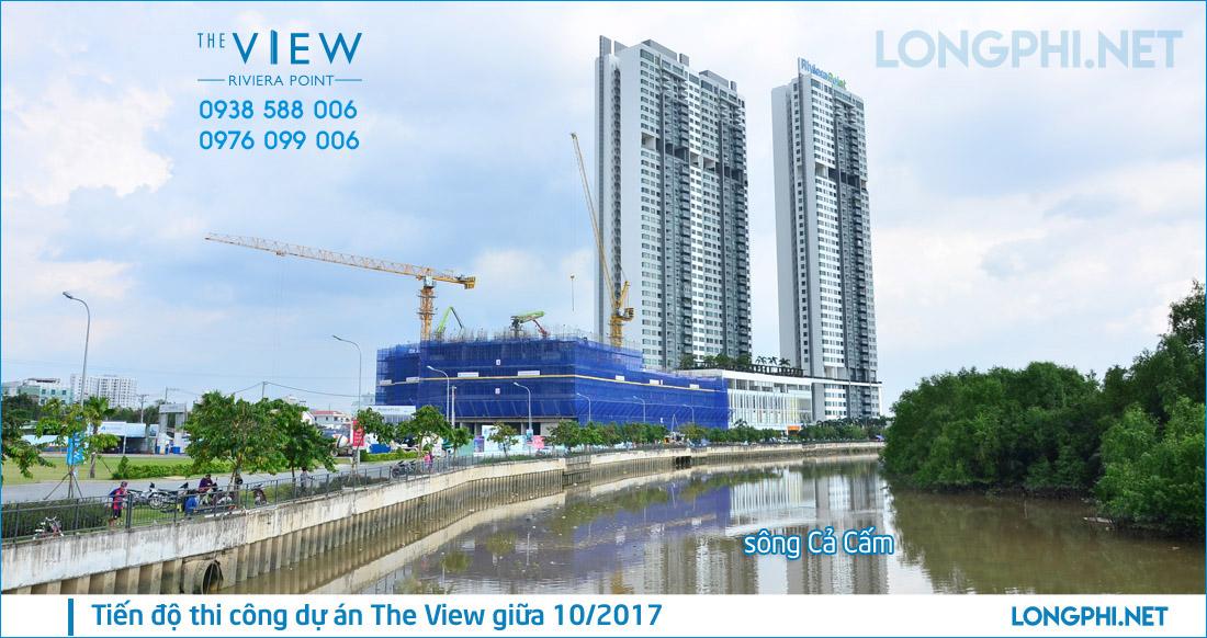 Tiến độ thi công giữa 10/2017 căn hộ The View quận 7 - thi công bởi Hòa Bình.