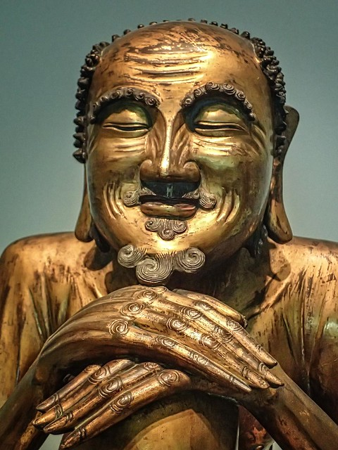 The Buddha Shakyamuni as an asceticd Ming or Qing dynasty China 1600-1700 CE Gilt bronze