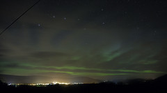 Aurora below The Plough and above Aviemore