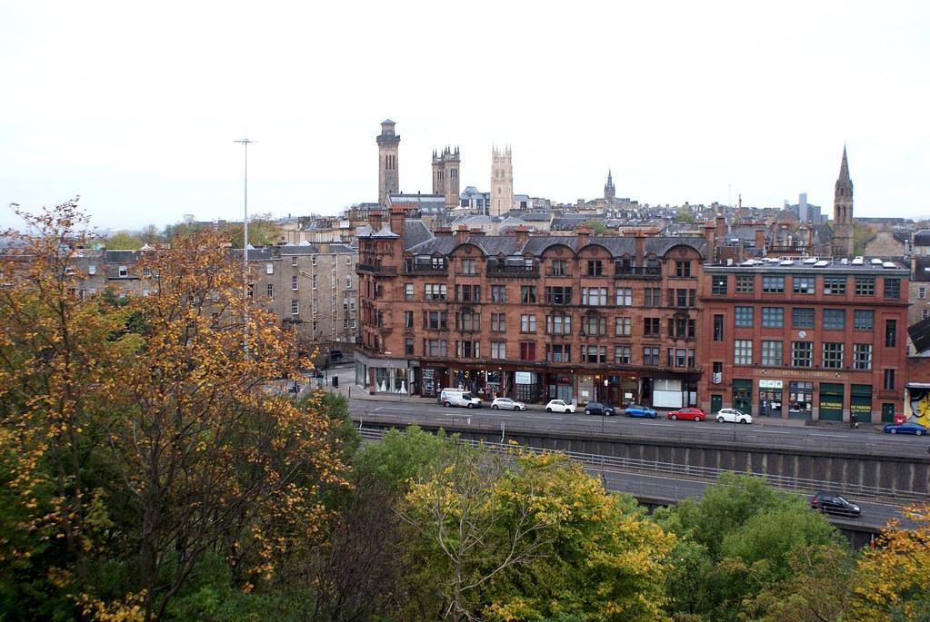 Vue sur le West End depuis Hill Street View Point à Glasgow.