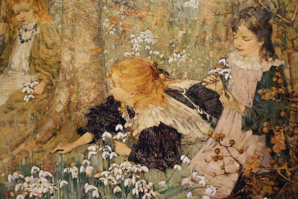 """The coming of spring"" (1899) d'EA Hornel à Glasgow"