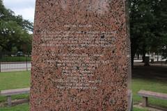 USS Houston Monument at Sam Houston Park (Houston, Texas) - July 2017
