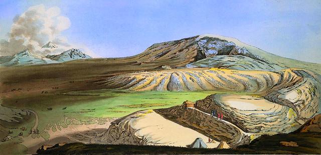 17. Вид на гору Машук и пятиглавый Бештау.