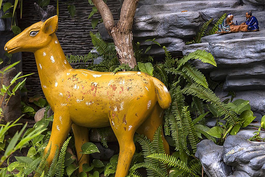 Deer and two sages drinking--Ea Kar
