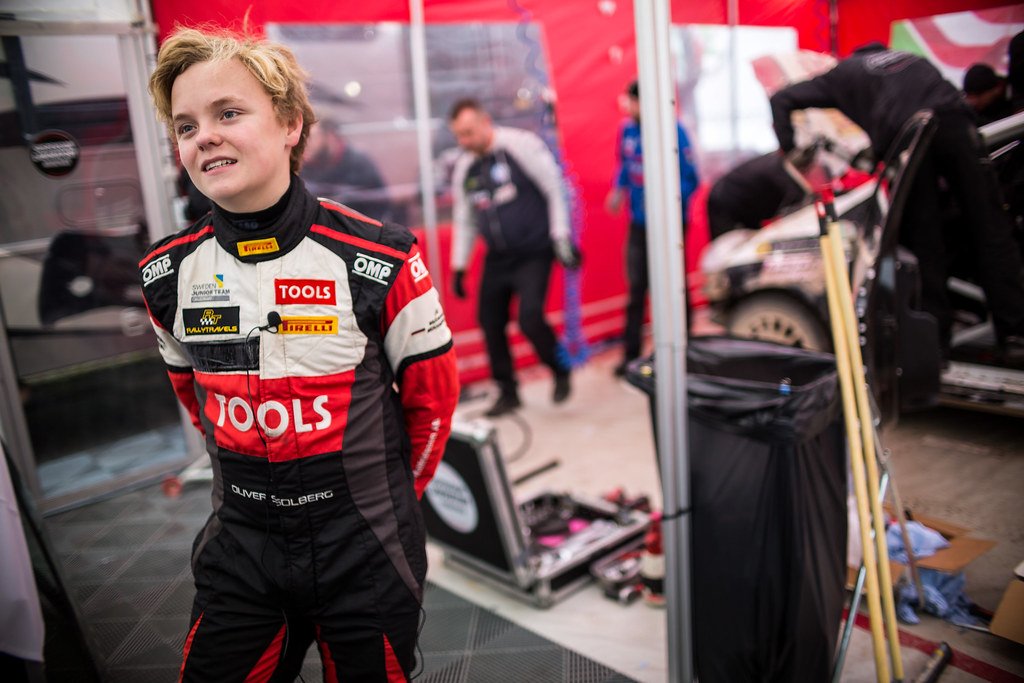 Solberg Oliver, Sports Racing Technologies, Peugeot 208 ambiance portrait during the 2017 European Rally Championship ERC Liepaja rally,  from october 6 to 8, at Liepaja, Lettonie - Photo Thomas Fenetre / DPPI