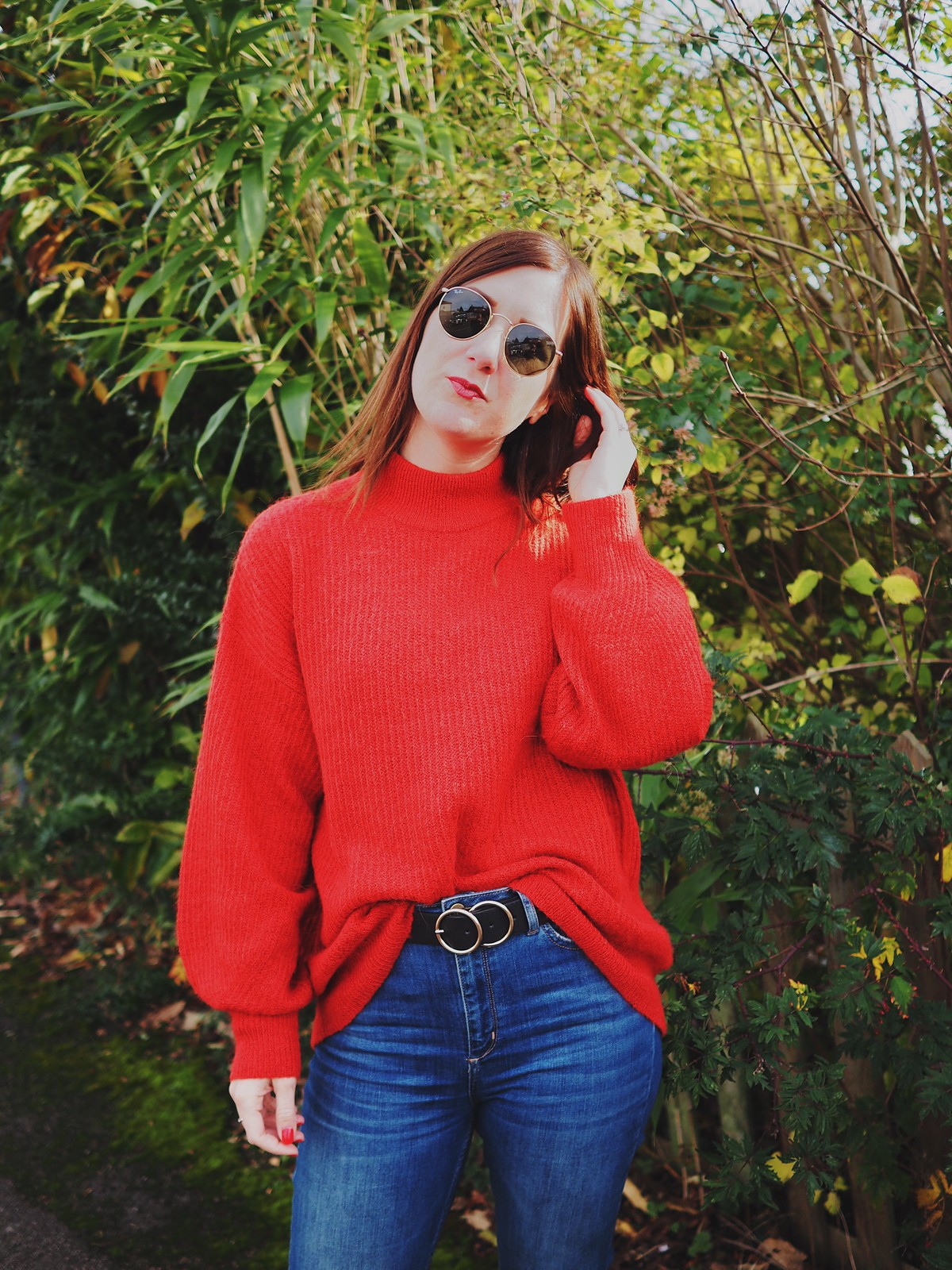 Lady in (a) Red (Sweater) | Hannah and The Blog
