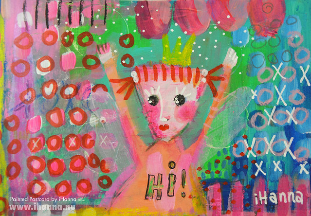 DIY Postcard | Hi from another princess (Photo and art by Hanna Andersson a.k.a. iHanna, Sweden) #mailart