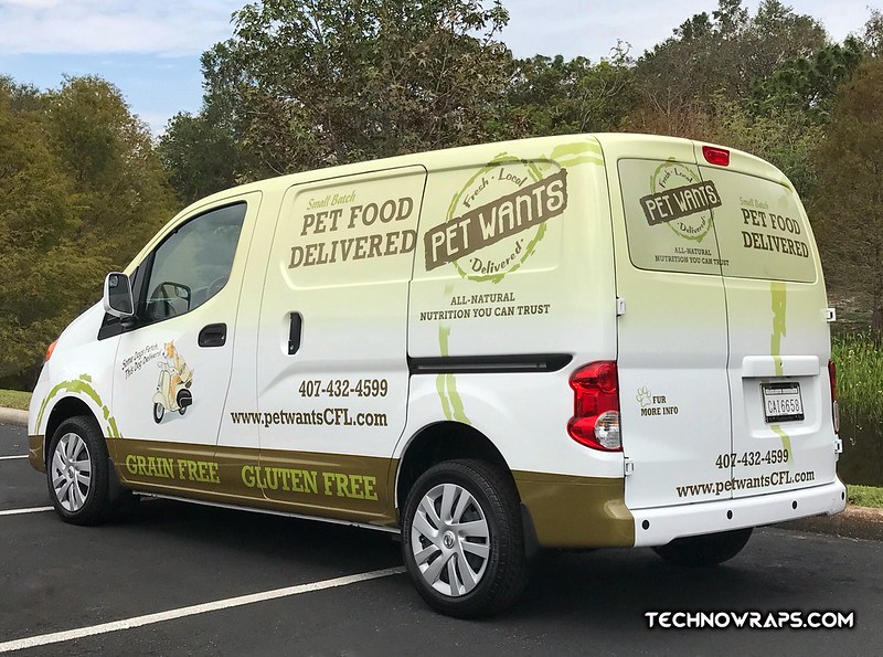 Nissan NV vinyl vehicle wrap in Orlando by TechnoWraps.com