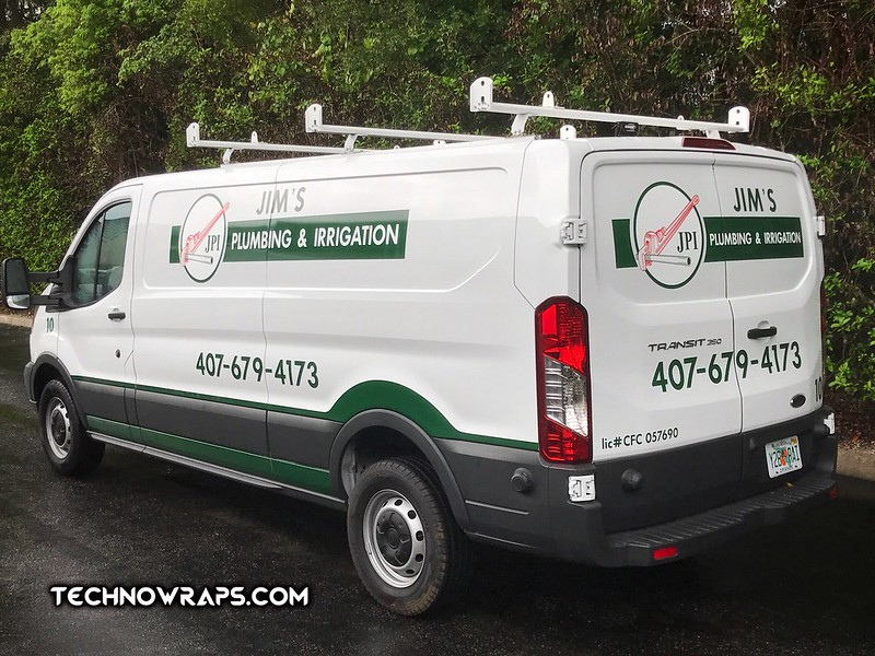 Vinyl graphics on service charge van by TechnoWraps.com