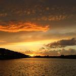 Fire clouds at Preston Docks