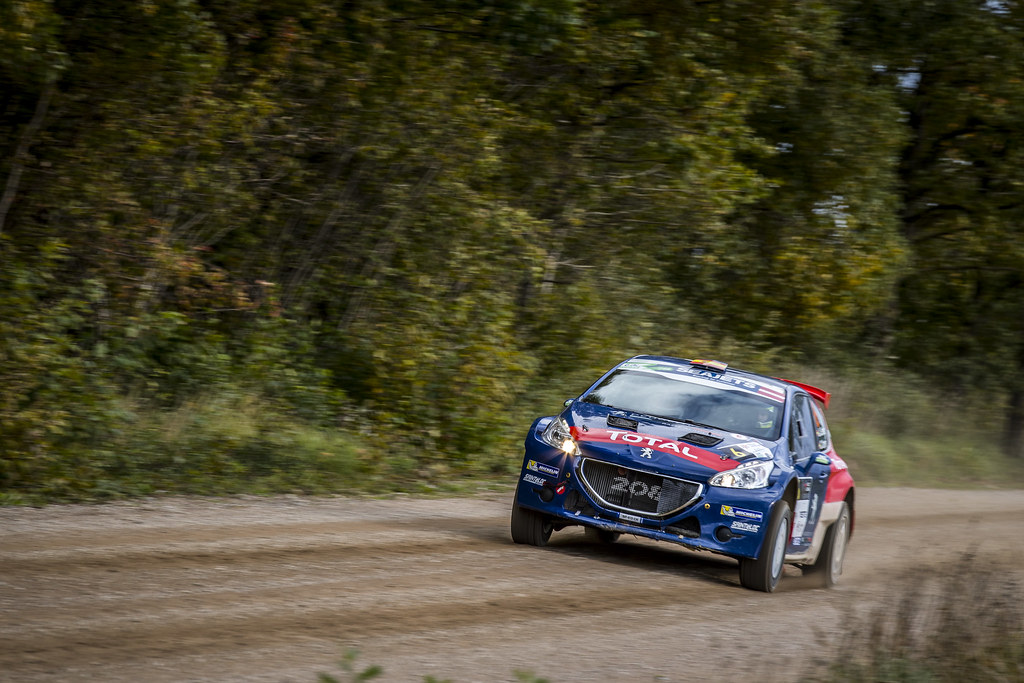 06 Suárez José Antonio and Carrera Cándido, Peugeot Rally Academy, Peugeot 208 T16 ERC Junior U28 action during the 2017 European Rally Championship ERC Liepaja rally,  from october 6 to 8, at Liepaja, Lettonie - Photo Gregory Lenormand / DPPI