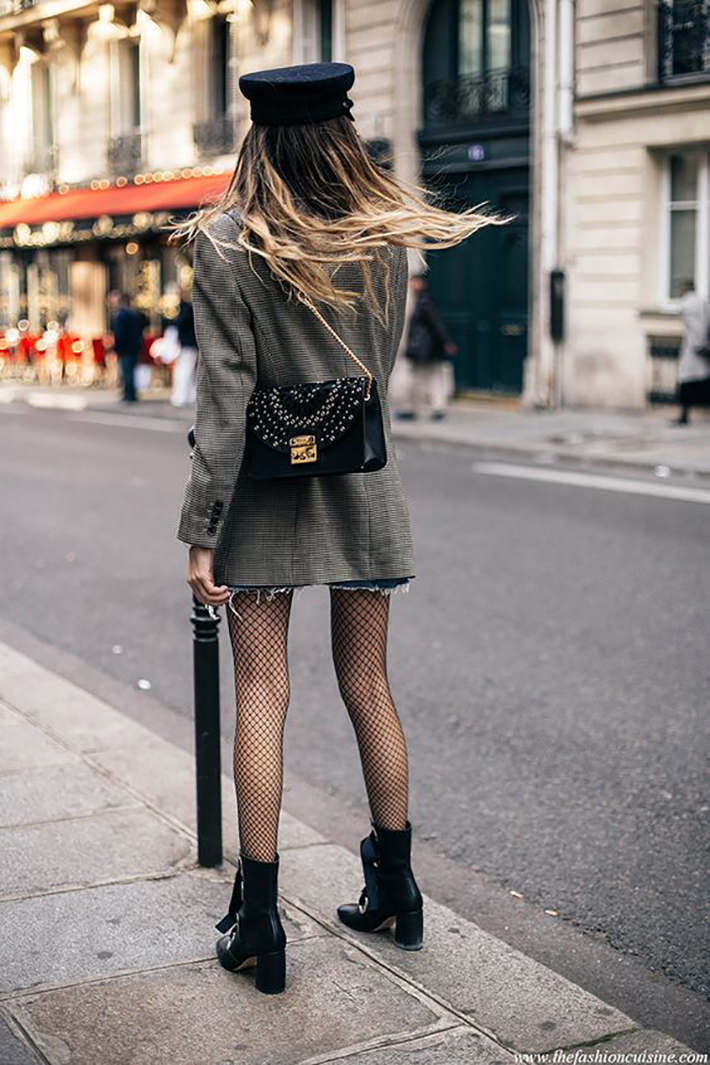 plaid blazer street style trend style outfit 2017 accessories denim3