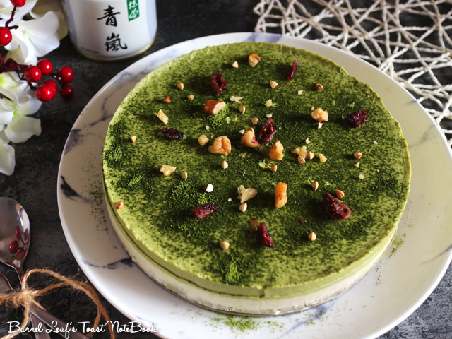 純素抹茶白巧克力派 Vegan Matcha Layered Pie (2)