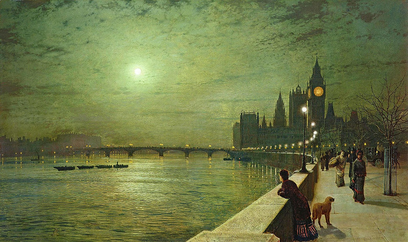 Reflections on the Thames, Westminster by Grimshaw, John Atkinson, 1879