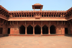 Inner courtyard, Red Fort, Agra, India