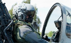The Luftwaffe is using it named as HEA.Head Equipment Assembly. One of three helmets currently in use with the EF in Germany.