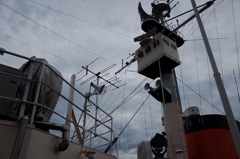 名古屋港南極観測船ふじデッキ