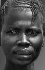 Ethiopia : Gambella region , B&W portraits #5