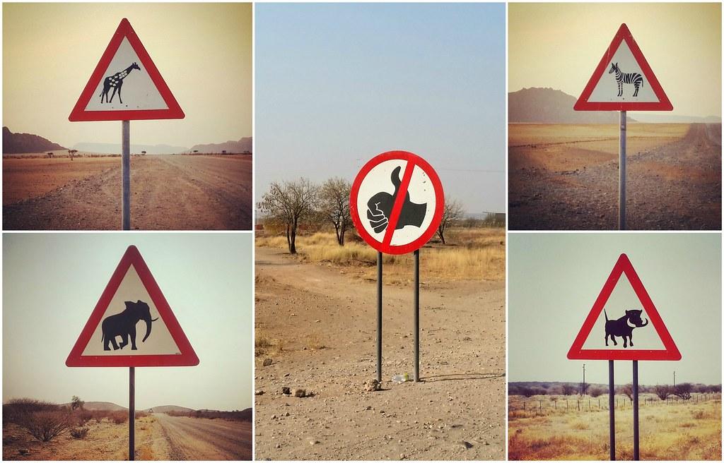 Znaki drogowe Namibia