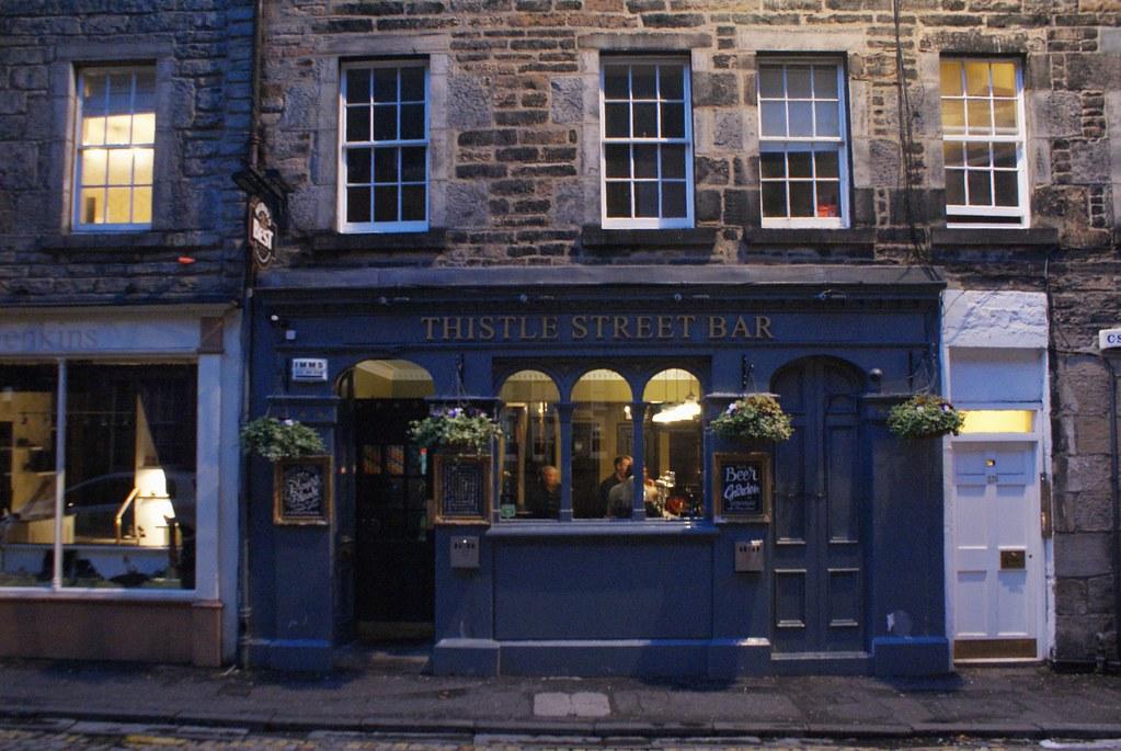 Thistle Street Bar, pub de la New Town d'Edimbourg.