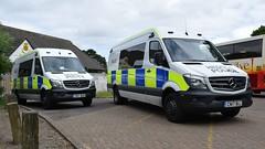 Heddlu De Cymru/South Wales Police Mercedes Benz Sprinters CN17 BUH & CN17 BUJ