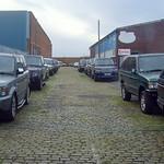 A street full of Range Rovers