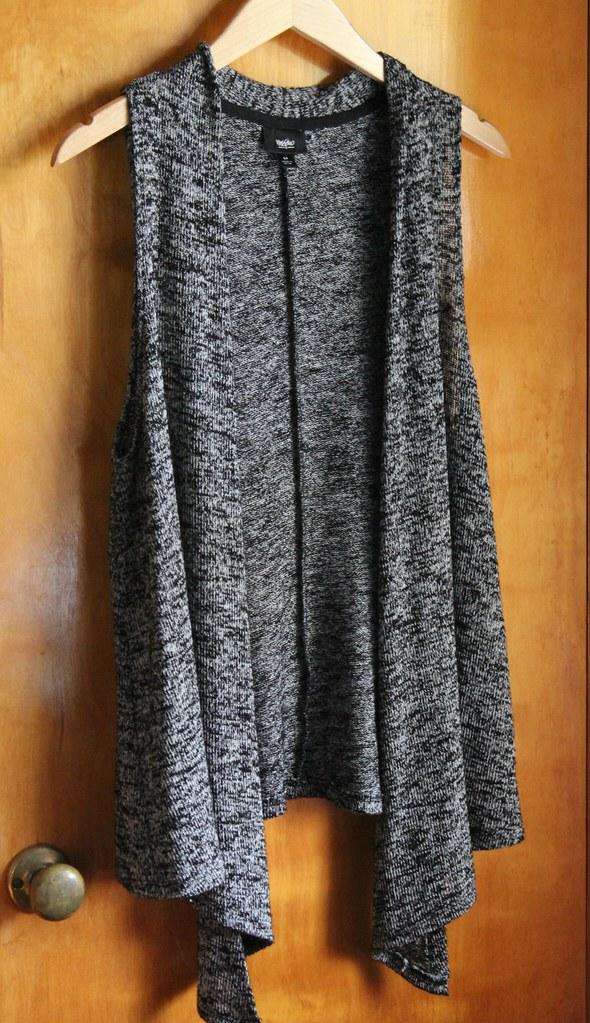 Target grey marled vest
