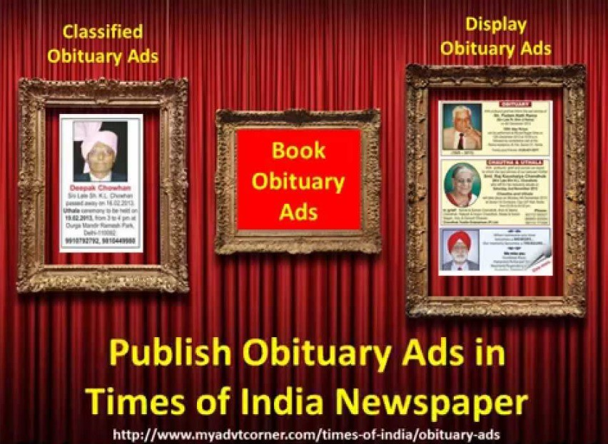 Times of India Obituary Ads | HOP ON THE WEBSITE FOR TIMES O