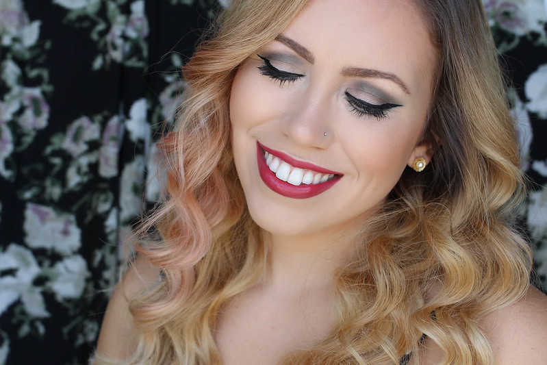 Clarins Graphik Ink Eyeliner Intense Black Cat Eye Red Lipstick Makeup Beauty Tutorial